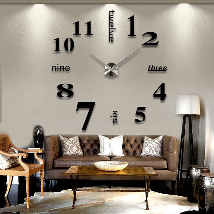 Contemporary decorative wall clocks for living room buy 3d diy large wall clock-black at marketplacefinds for only $ 24.99 duxaazr