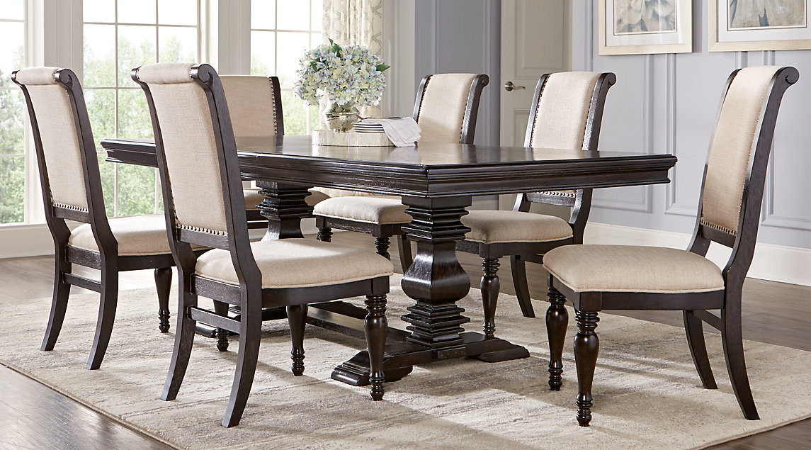 Contemporary dining room table and chairs westerleigh oak 5 pc rectangle dining room mneoevn