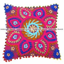 Contemporary embroidered cushion covers 1 pc embroidered suzani cushion cover 100% cotton indian decorative pillow  cases ozfvwty