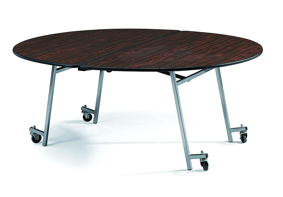Contemporary folding table with wheels ... chair/convention and conference seating/large event seating  /stackingchair/folding round table /banquet table/round izbxrul