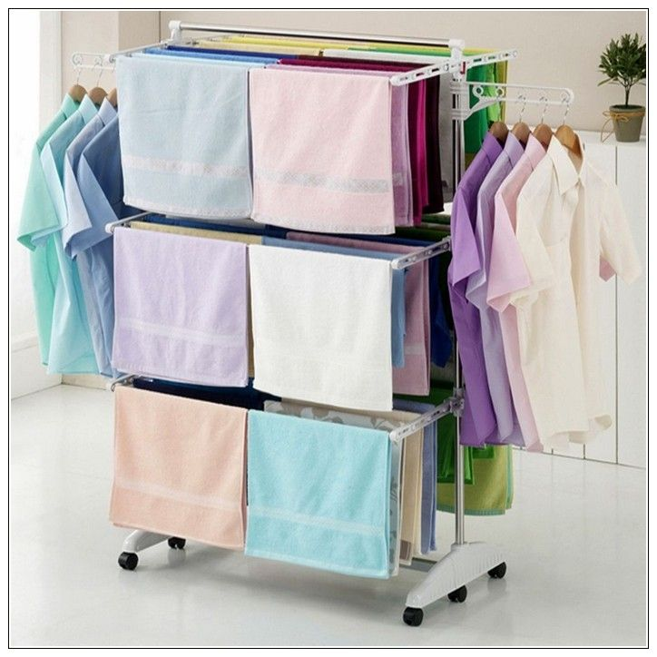 Make the best use of an indoor clothes drying rack