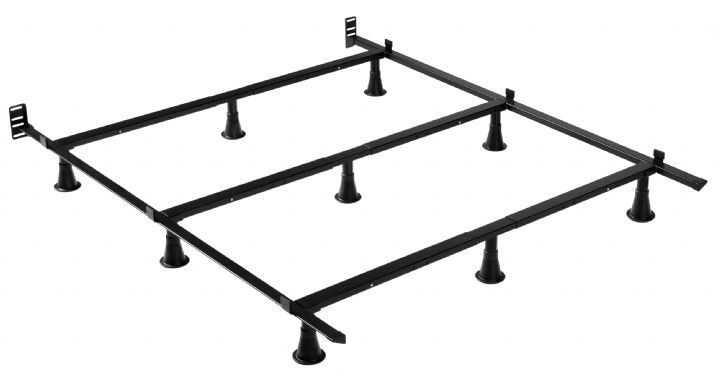 Contemporary king size metal bed frame king size heavy duty 9-leg metal bed frame with headboard brackets iudisno