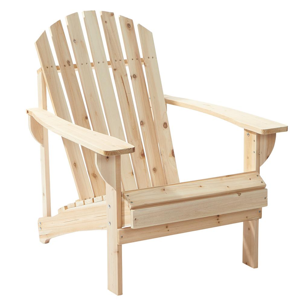 Contemporary outdoor adirondack chairs null unfinished stationary wood outdoor adirondack chair (2-pack) jzgxqee