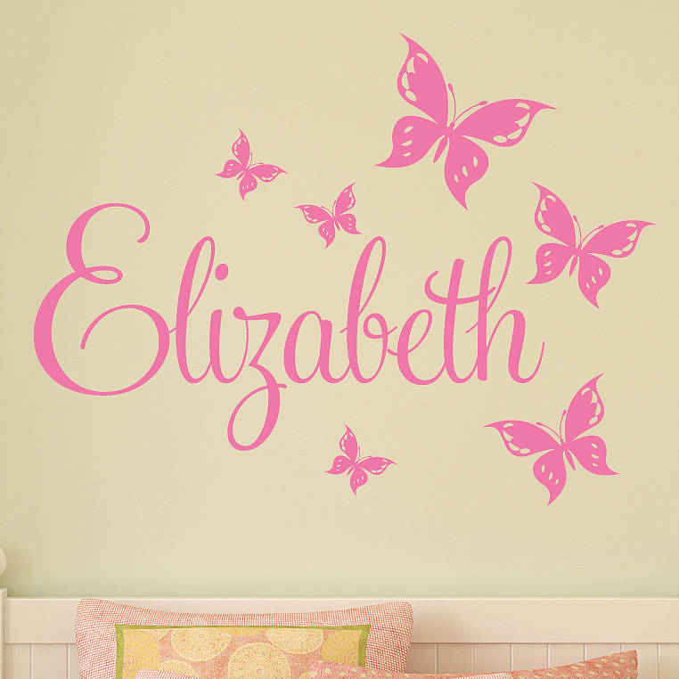 Contemporary personalised wall stickers personalised butterfly wall stickers tltredb