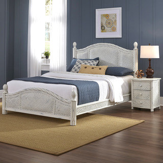 Contemporary rattan bedroom furniture marco island bed and night stand by home styles qonysqv