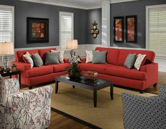 Contemporary red living room furniture dark grey and red living room red and grey living room jduprme