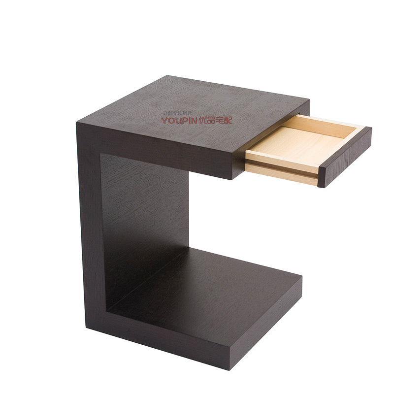 Contemporary small black bedside table exciting black walnut bedside table designs with under shelf ... mtrymps