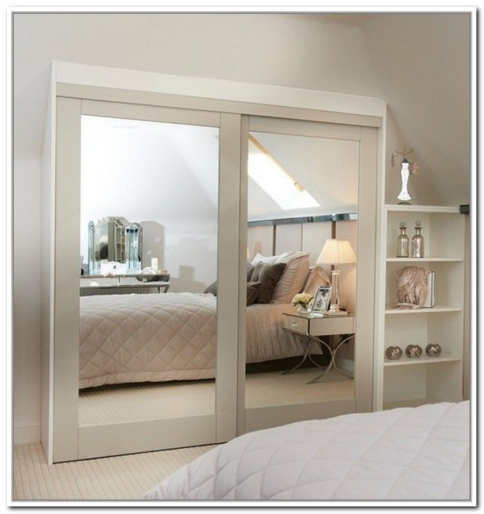Contemporary stylishly space-saving sliding mirror closet doors | home decor news opqiozy