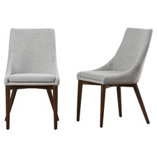 Contemporary upholstered dining chairs bilston parsons chair (set of 2) mlbyqra