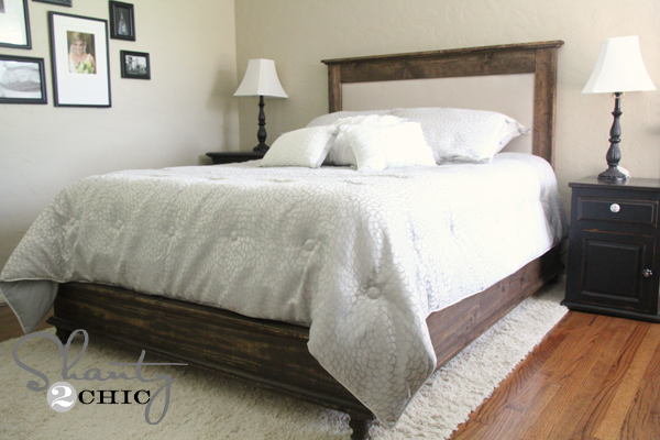 Contemporary wood and upholstered headboard make an wood framed upholstered headboard! free step by step tutorial! kfdrcjl