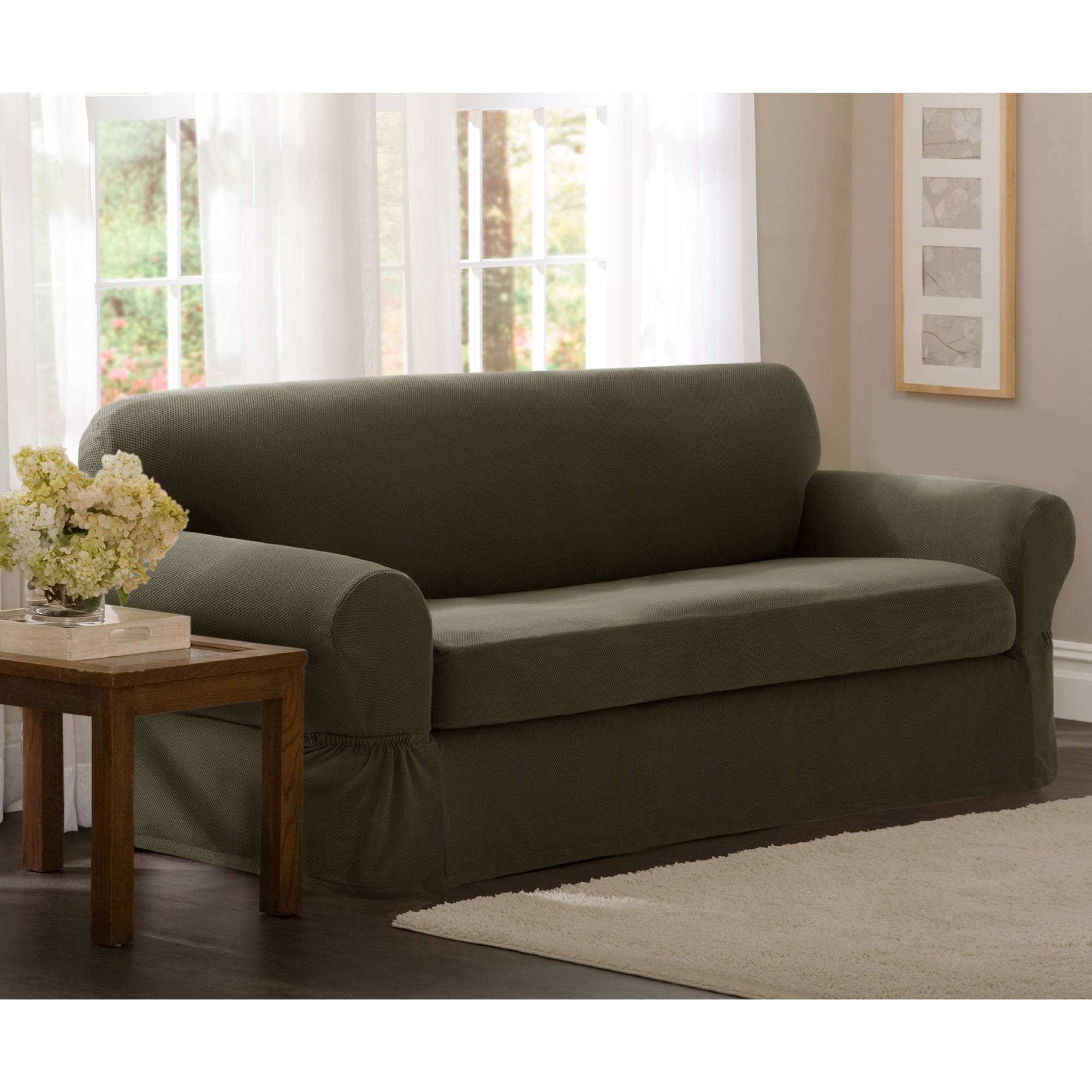 Cool couch and loveseat covers maytex stretch pixel 2-piece loveseat slipcover - walmart.com qqhsbum