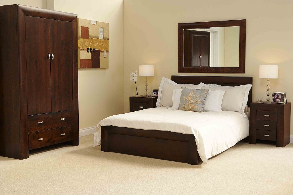 Cool details about michigan dark wood bedroom furniture 5 39 king size bed uxwknym