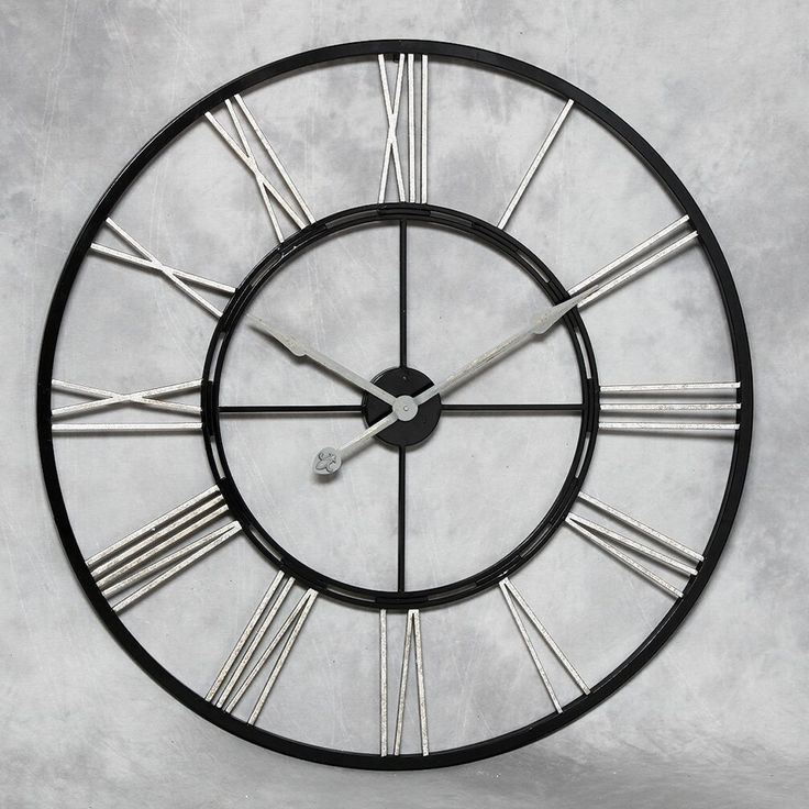 Cool large kitchen wall clocks giant wall clock with silver numerals ilqimzh