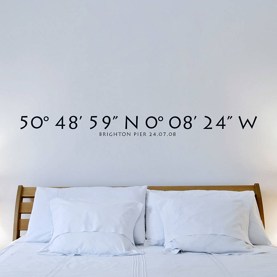 Cool personalised wall stickers personalised coordinates wall sticker plfrspt