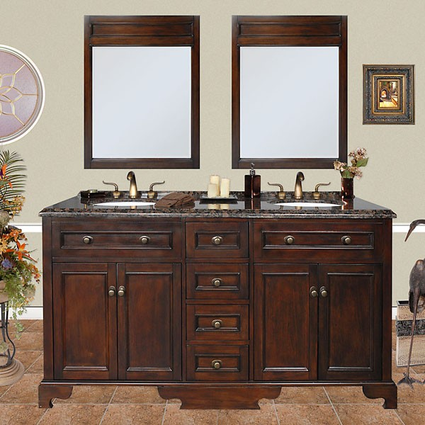Cool traditional bathroom vanities wellington (double) 67-inch traditional bathroom vanity ozotibl