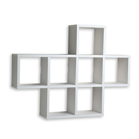 Cool white wall mounted shelves danya b 31-in w x 23-in h x 5.5-in d dtcflcx