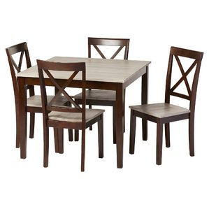 Cozy dining room table and chairs tilley rustic 5 piece dining set gbbabtj