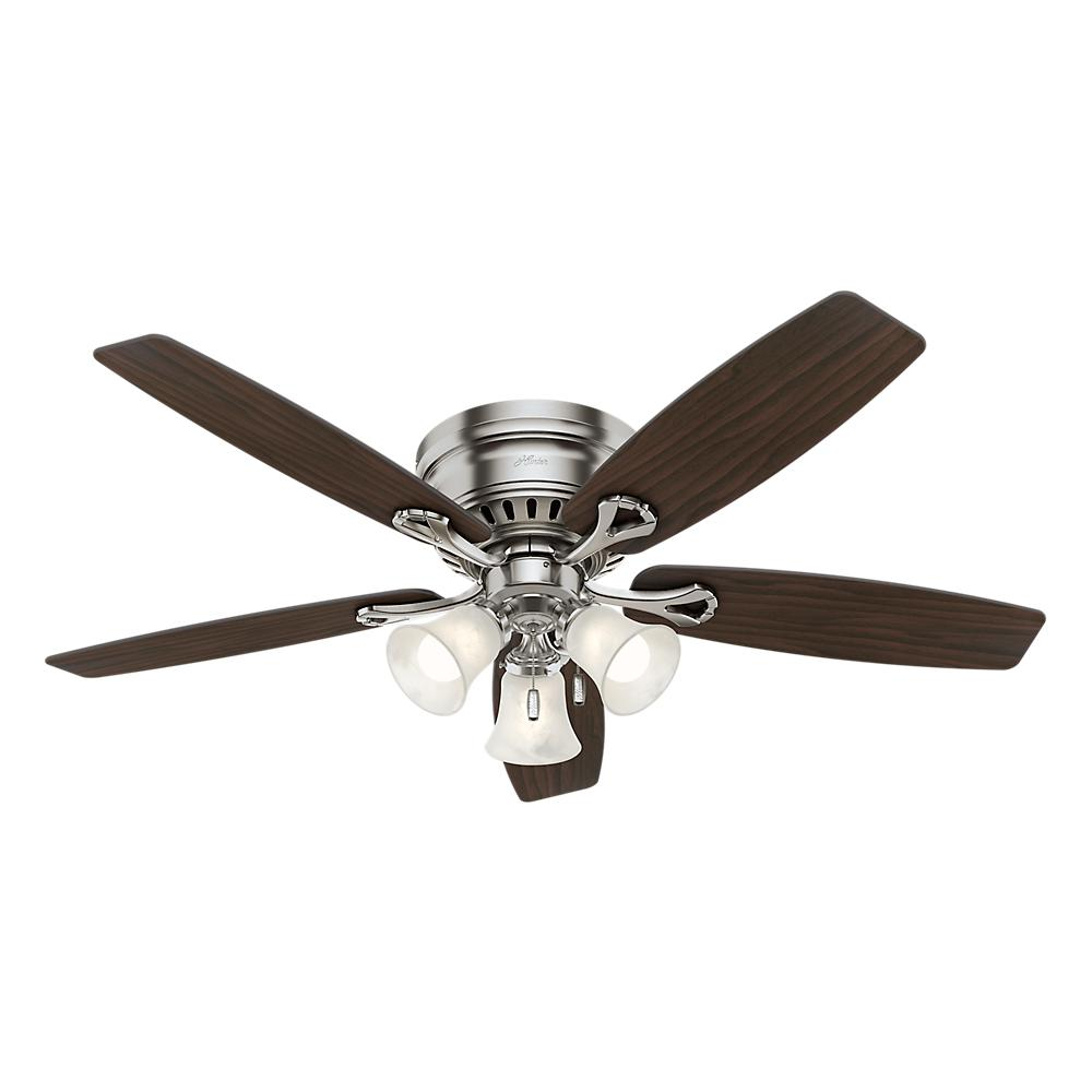 Cozy hunter ceiling fans with lights this review is from:oakhurst 52 in. led indoor low profile brushed nickel ceiling dbmtrli