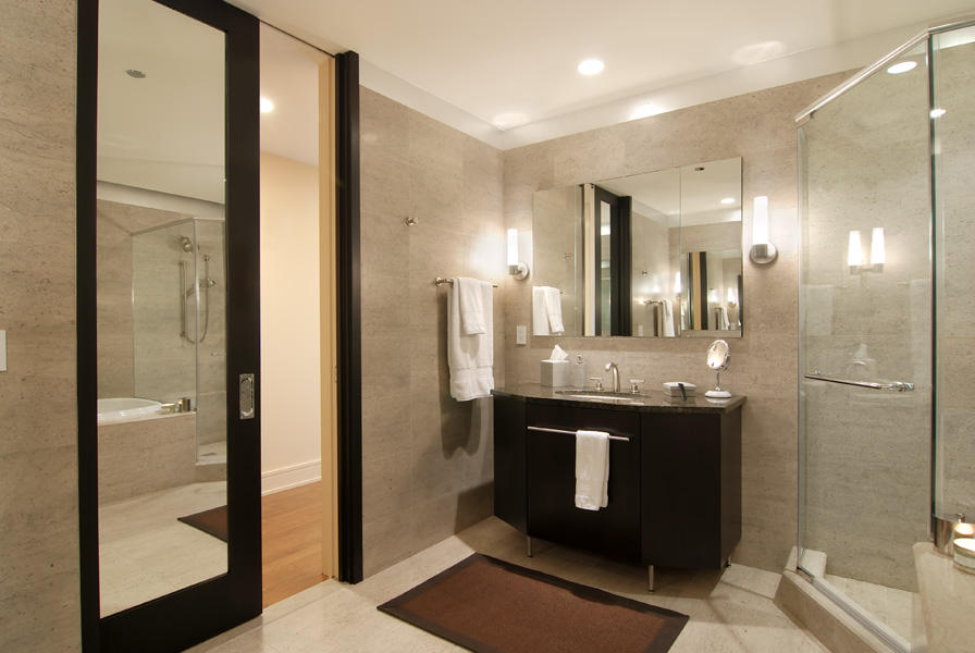 Cozy image of: moderrn bathroom recessed lighting xeqhucq