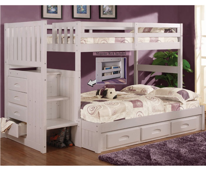 Cozy image of: white bunk beds with stairs awesome zkbtvjw