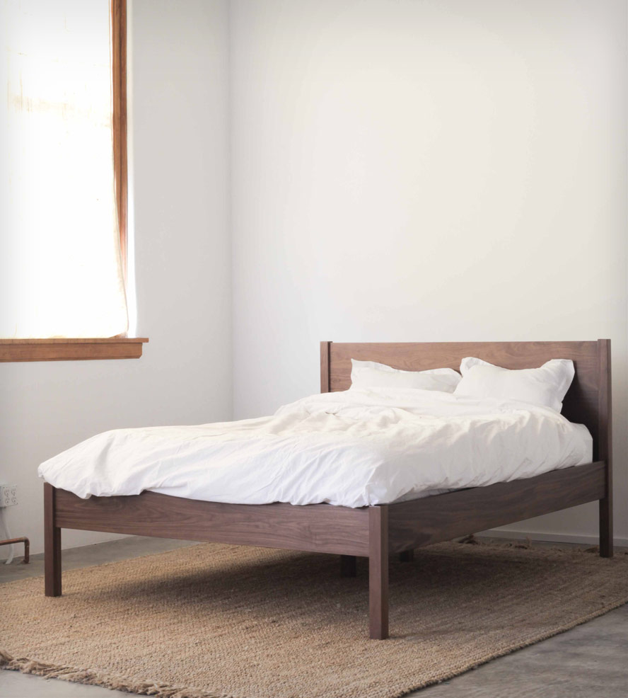 Cozy queen bed frame with headboard walnut queen bed frame u0026 headboard | the clean lines, simplicity and sturdy xxaoukp