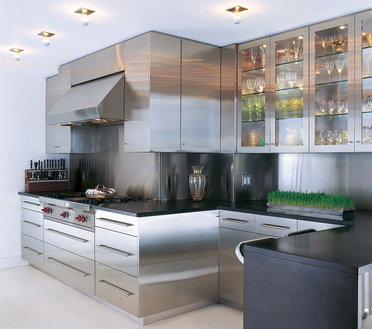 Cozy stainless steel kitchen cabinets stainless steel kitchen llwwcia
