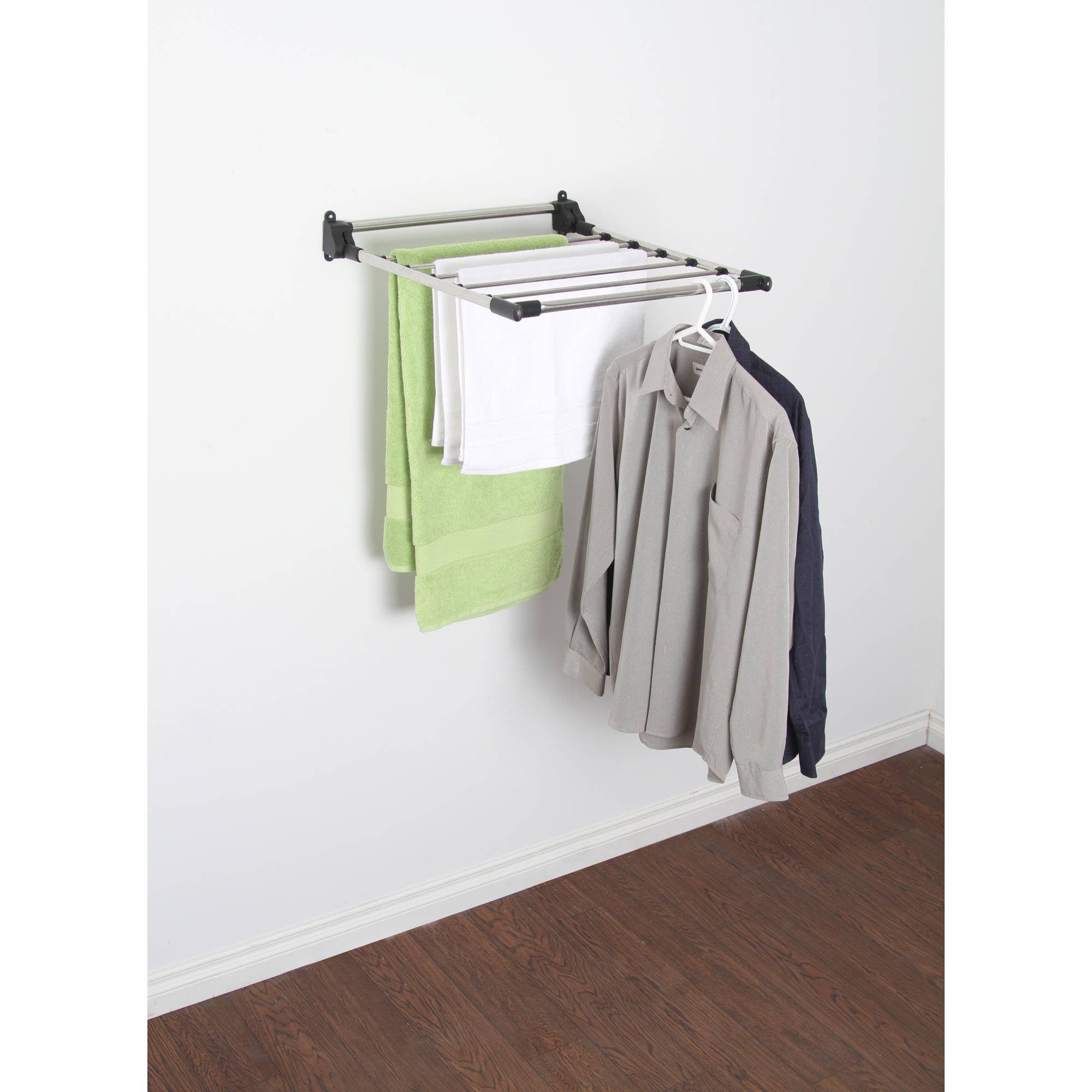 Cozy wall mounted clothes drying rack stainless steel indoor wall-mount drying rack - walmart.com dbxnsfw