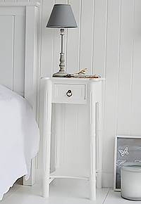 Cozy white bedside table with drawers new england one drawer white bedside table yhjxfkg