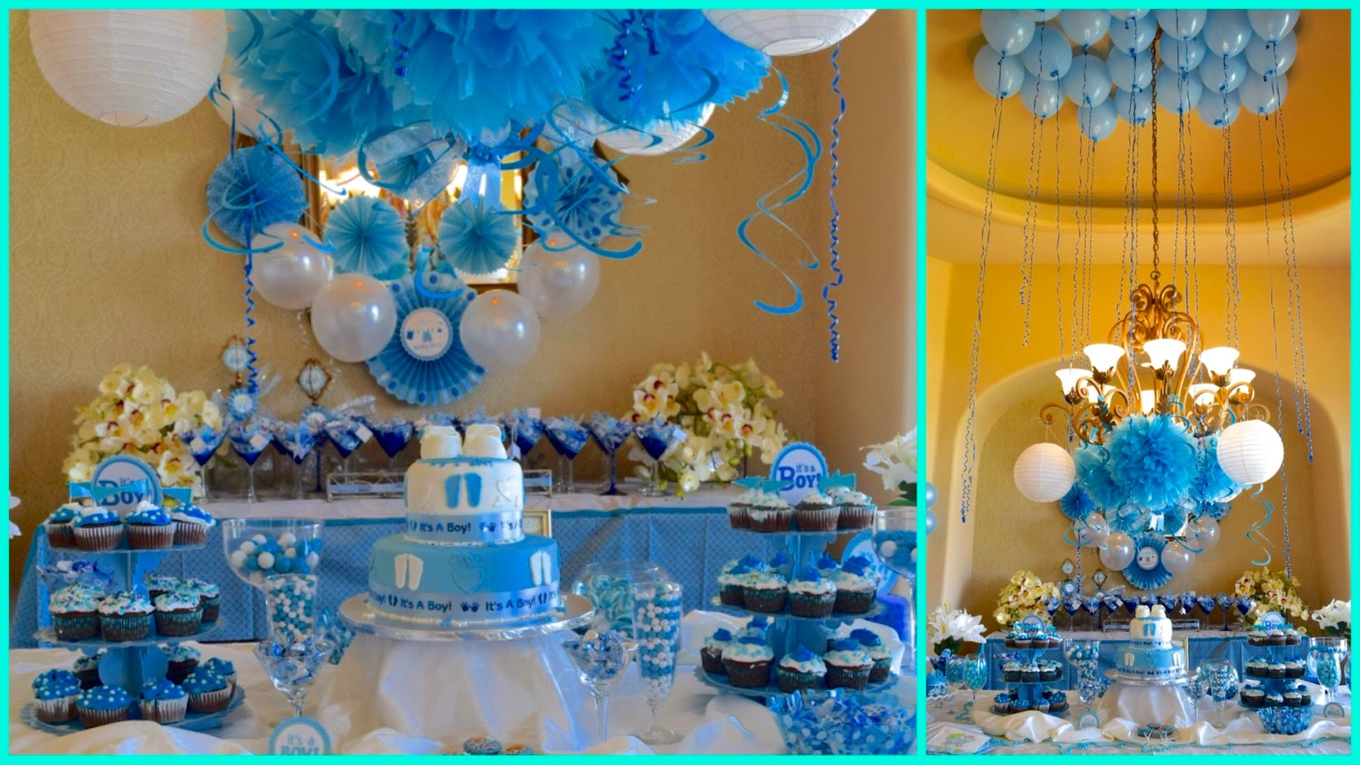 Creative baby shower decorations for boy baby shower ideas for boy blue theme - youtube aenrlpx