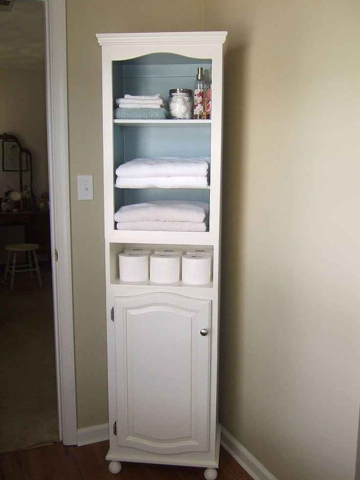 Creative bathroom cupboard storage hometalk :: linen cabinet storage solution from 2 thrift store cabinets to ocwmczv