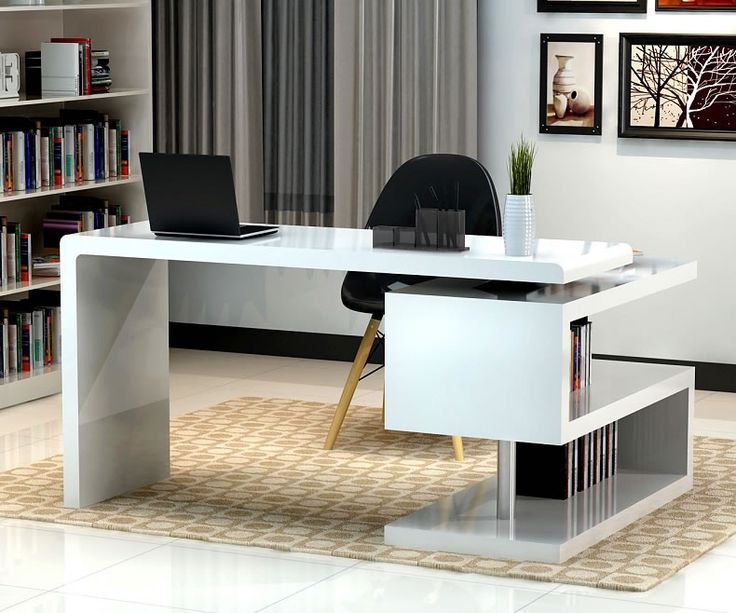 Creative home office computer desk stunning modern home office desks with unique white glossy desk plus open frnfyxi