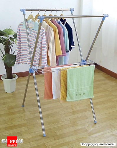 Creative indoor clothes drying rack stainless steel x-type clothes drying rack both indoor and outdoor use rlnwfvh