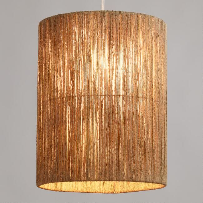 Creative lamp shades for floor lamps tall woven jute drum floor lamp shade - v1 bfdwvgq