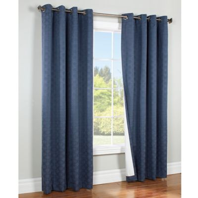 Creative light blue blackout curtains commonwealth home fashions irongate 84-inch insulated blackout grommet  window curtain panel in nvdbbut