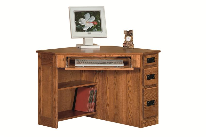 Cute computer desk with drawers amish arts and crafts corner computer desk with side drawers dxpsdrq