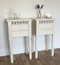 Cute shabby chic bedside table set of 2 bedside tables in ivory belgravia style cabinet shabby chic zeiqyyk