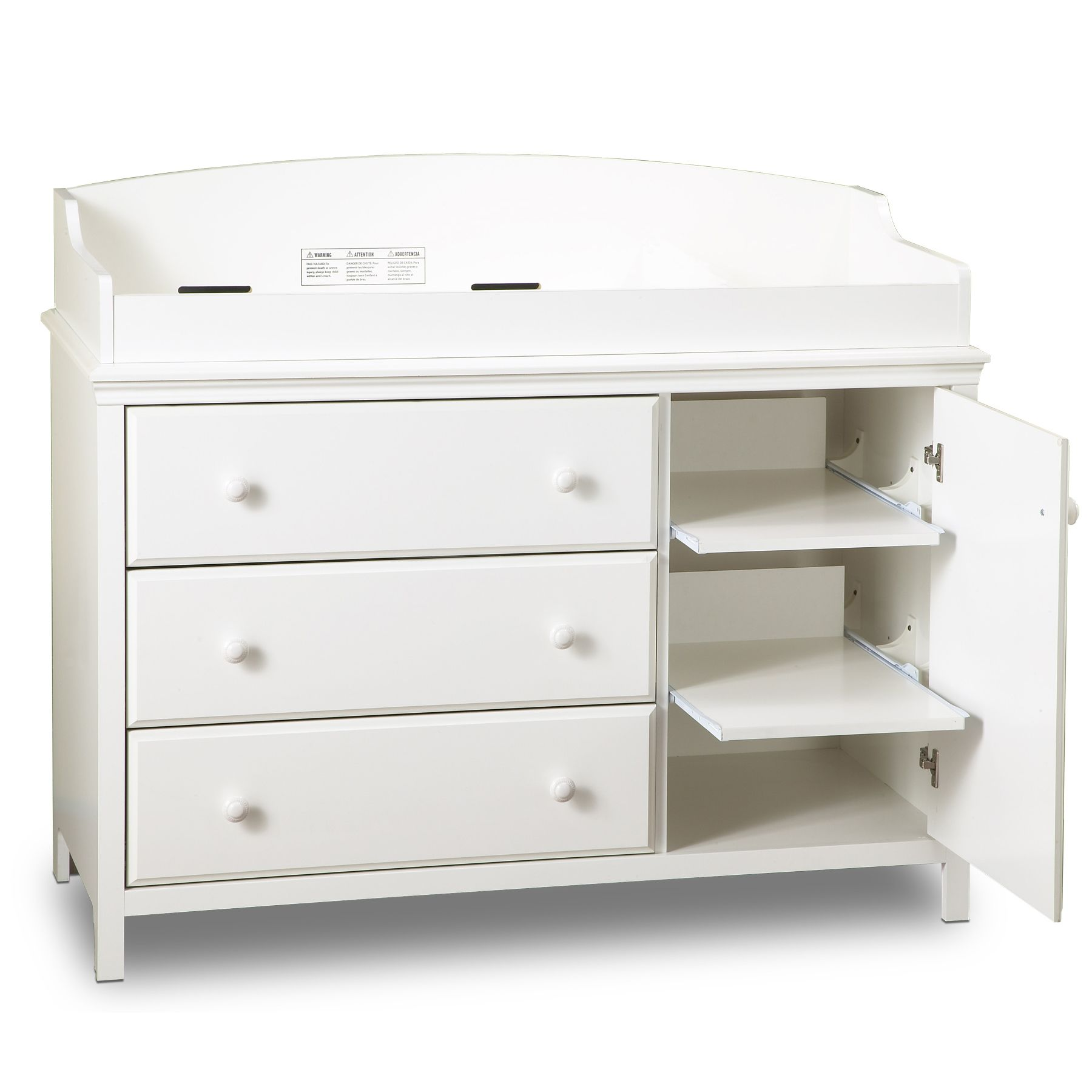 Cute white baby changing table south shore cotton candy changing table - pure white - baby - baby gngcvec