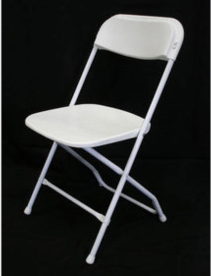 How to clean white plastic folding chairs from rust