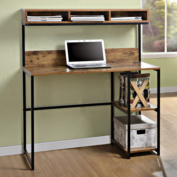Decor Ideas computer desk with shelves computer desk with shelf above. features: -2 fixed side shelves for  additional vpgiqni