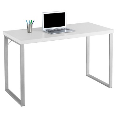 Decor Ideas contemporary computer desk contemporary silver metal computer desk - white -everyroom uwdrzud