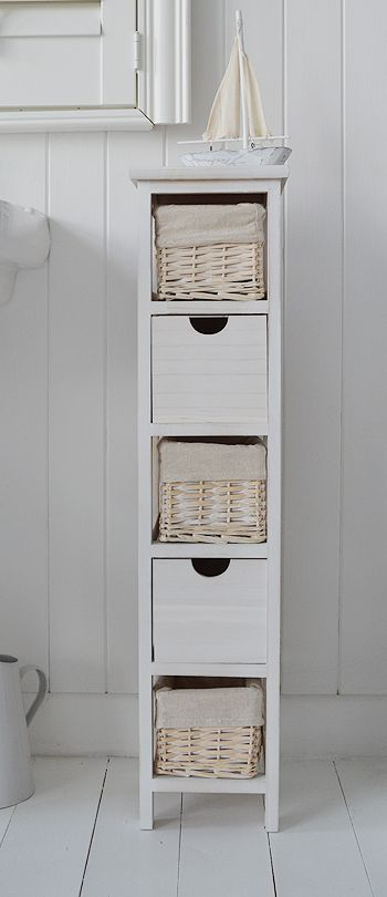 Elegant bathroom freestanding storage tall narrow 20 cm bathroom freestanding cabinet with baskets and drawers nsxrhnt