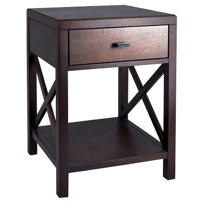 Elegant bedside table with drawers owings side table with drawer espresso - threshold™ xqhhclg