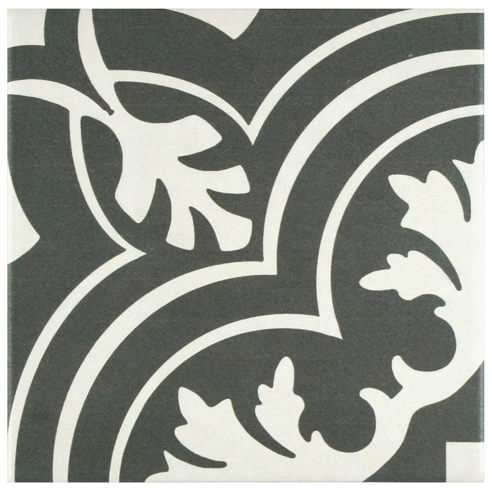 Elegant black and white ceramic tile this review is from:twenties classic 7-3/4 in. x 7-3/4 in. ceramic floor eycpard