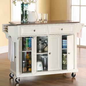 Elegant kitchen islands and carts pottstown kitchen island with stainless steel top iqamrsr