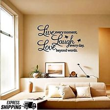 Elegant wall stickers for living room vinyl home decor stickers love quotes wall decal mural sticker diy art obwtufo