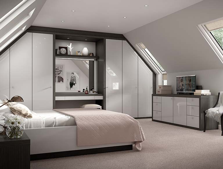 Excellent fitted bedroom furniture striking grey and black bedroom furniture lxxofpa