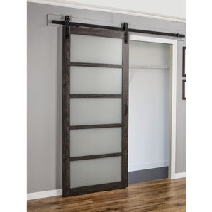 Excellent frosted glass closet doors continental frosted glass 1 panel ironage laminate interior barn door tzwqnmt