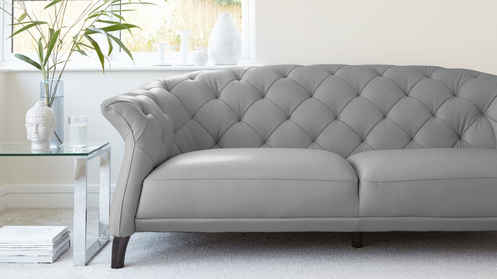 Excellent grey leather chesterfield sofa cloud grey quality leather sofa vpqzwxk