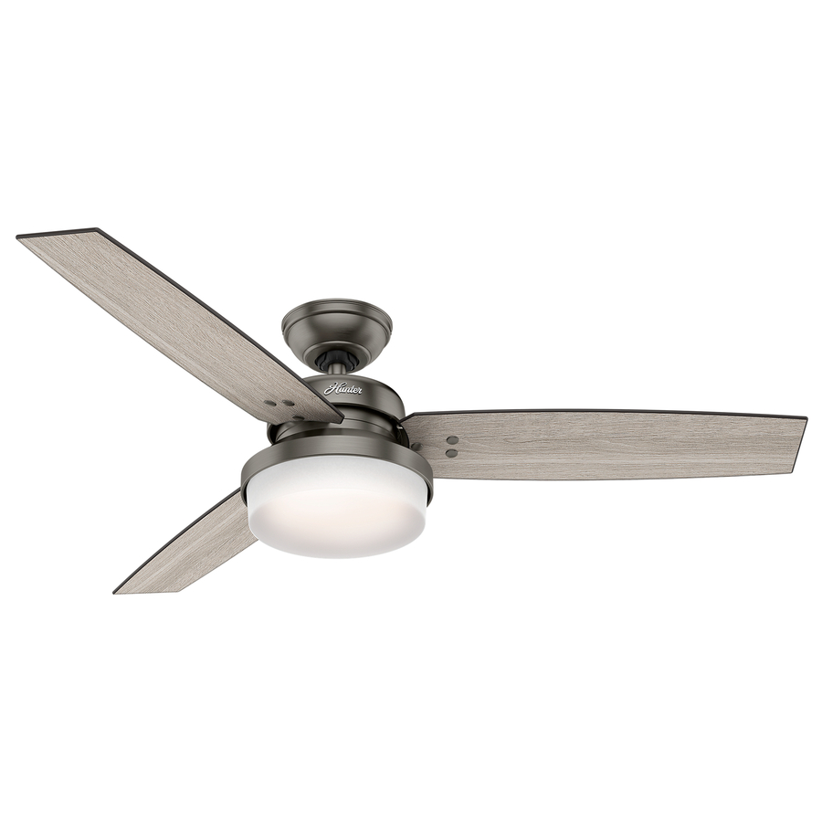 Excellent hunter ceiling fans with lights hunter sentinel 52-in downrod or close mount indoor ceiling fan with light zwlojkb