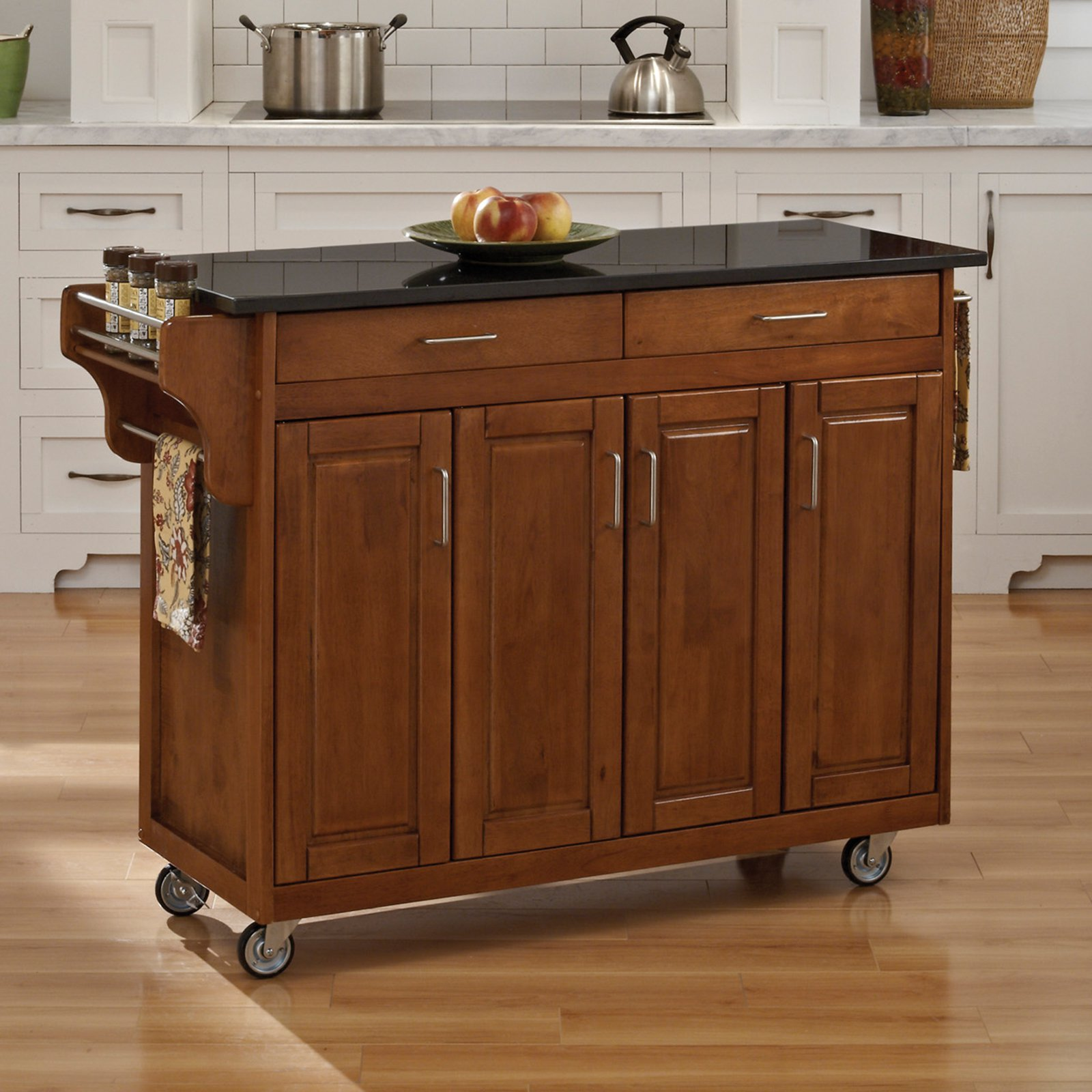Excellent kitchen islands and carts home styles large create-a-cart kitchen island | hayneedle oetftsr